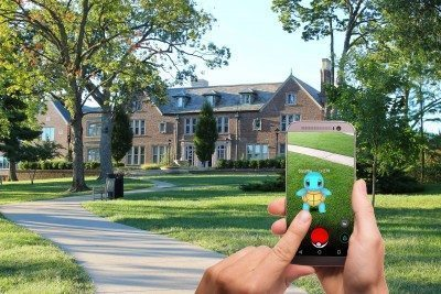 Pokemon Go being played outside