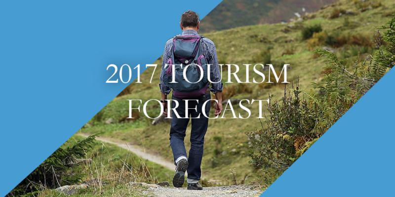 2017 tourism forecast header image of hiker
